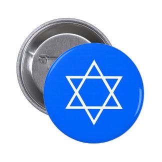 Estrella del botón del día de fiesta de David