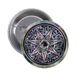 Estrella del botón vidente pin