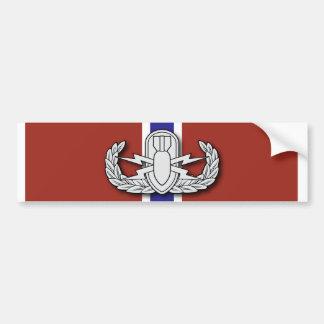 Estrella del bronce del EOD Etiqueta De Parachoque