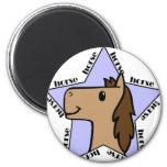 Estrella del caballo imán para frigorífico