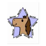Estrella del caballo postal