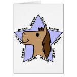 Estrella del caballo tarjetas