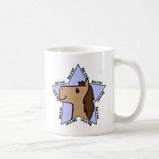 Estrella del caballo taza de café