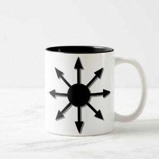 Estrella del caos taza de dos tonos