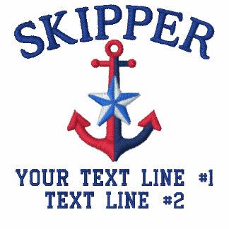 Estrella del capitán su nombre del barco su nombre polo bordado