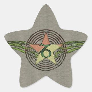 Estrella del Capricornio Pegatina En Forma De Estrella