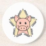 Estrella del cerdo posavasos manualidades
