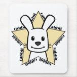 Estrella del conejo alfombrillas de raton