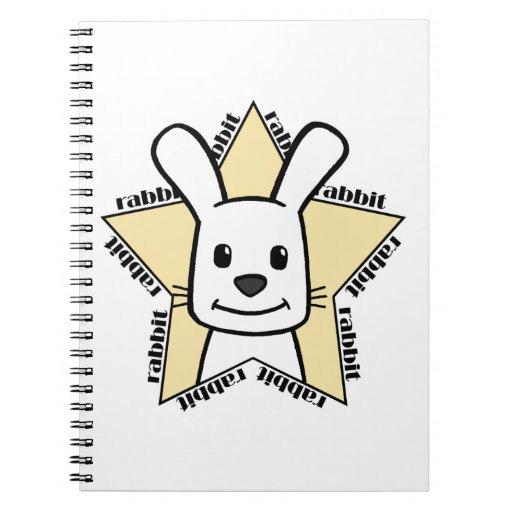 Estrella del conejo libros de apuntes con espiral