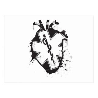 estrella del corazón anatómico de la vida tarjeta postal