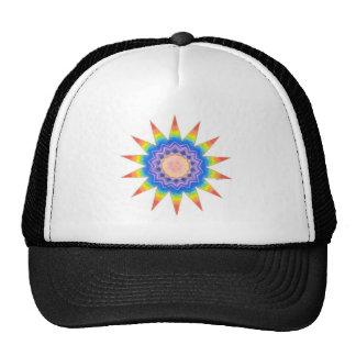 Estrella del corazón del arco iris gorra