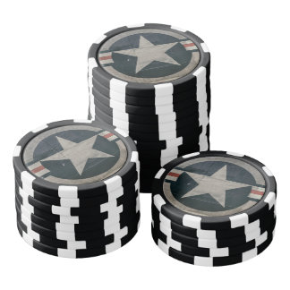 Estrella del cuerpo de aire del vintage WW2 Fichas De Póquer