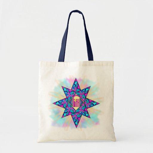 Estrella del ~ de la fe bolsa tela barata