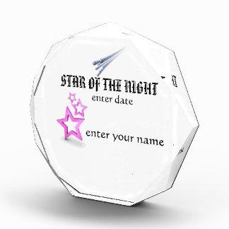 estrella del ` de la placa de la noche