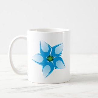 Estrella del descenso del agua taza de café
