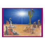 Estrella del desierto del día de fiesta felicitaciones