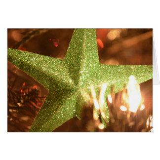Estrella del día de fiesta tarjeta de felicitación