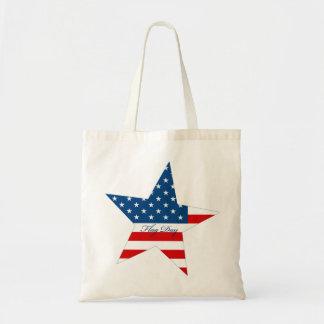 Estrella del día de la bandera bolsas