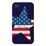 Estrella del día de la bandera iPhone 4 cárcasa