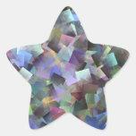 Estrella del diamante pegatinas forma de estrellaes