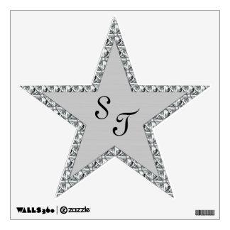 Estrella del diamante vinilo decorativo