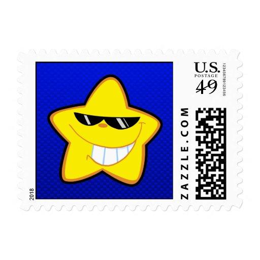 Estrella del dibujo animado; Azul Franqueo