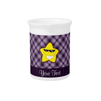 Estrella del dibujo animado Púrpura