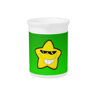 Estrella del dibujo animado Verde
