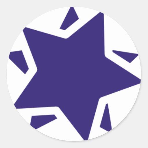 Estrella del diseño etiquetas