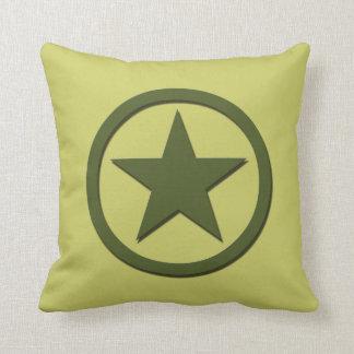 Estrella del ejército almohadas