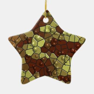 Estrella del ejército adorno de cerámica en forma de estrella