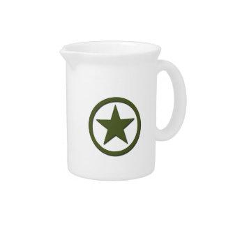 Estrella del ejército jarra de beber