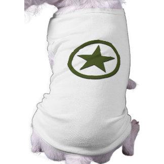 Estrella del ejército playera sin mangas para perro