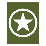 Estrella del ejército tarjeton