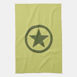 Estrella del ejército toallas