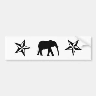 Estrella del elefante pegatina de parachoque