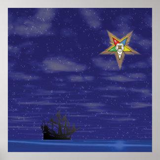Estrella del este de la luz de guía impresiones