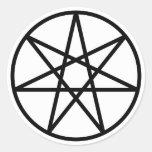Estrella del Faerie Pegatina Redonda