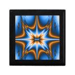 Estrella del fractal de Navajo Caja De Regalo