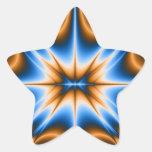 Estrella del fractal de Navajo Calcomanías Forma De Estrellas Personalizadas
