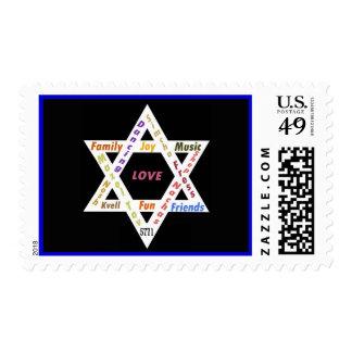 Estrella del franqueo del rectángulo de David