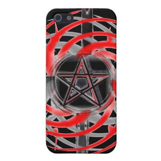 Estrella del fuego roja y negra iPhone 5 fundas