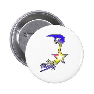 Estrella del gimnasio pin redondo de 2 pulgadas