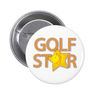 Estrella del golf pin