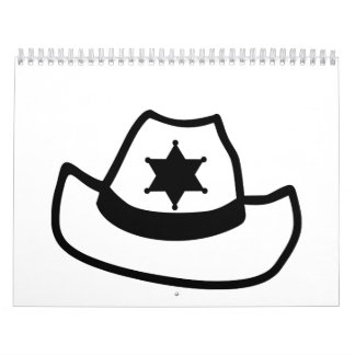 Estrella del gorra del sheriff calendarios