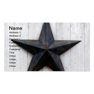 Estrella del granero tarjetas de visita