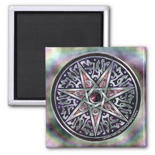 Estrella del imán cuadrado vidente