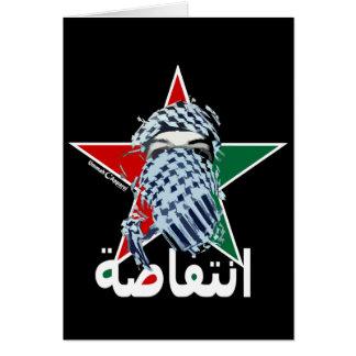 Estrella del Intifada Tarjeta De Felicitación