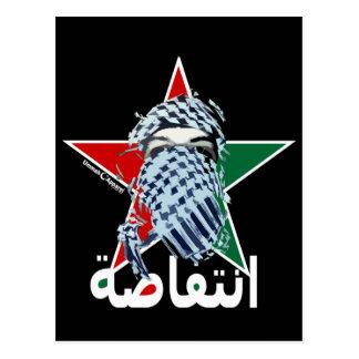 Estrella del Intifada Tarjeta Postal