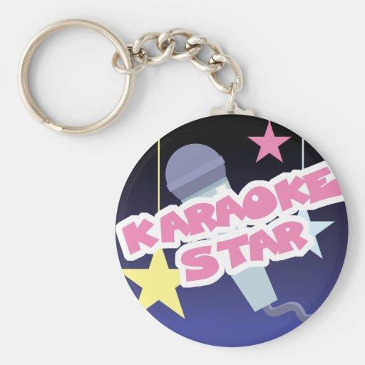 estrella del Karaoke Llaveros